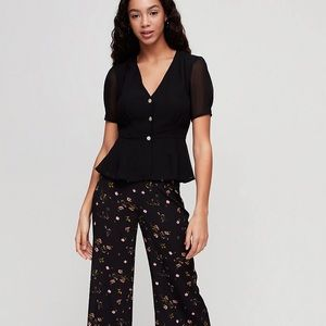 Aritzia Wilfred Button Front Top Camille Size 8